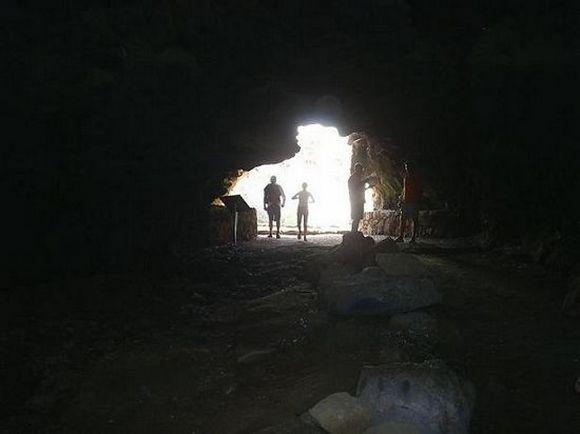 Inside Cueva del Llano